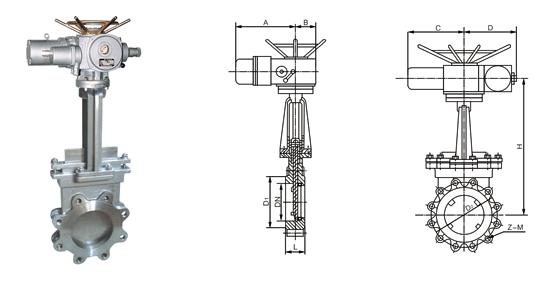 电动刀闸阀结构图