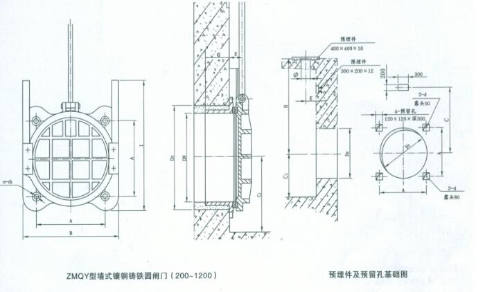 鱼塘排水闸门设计图样